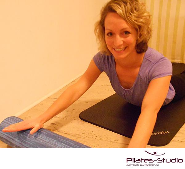 Matten-Pilates-Kurs mit Physiotherapeutin und Pilates-Trainerin Ina Hakenjos