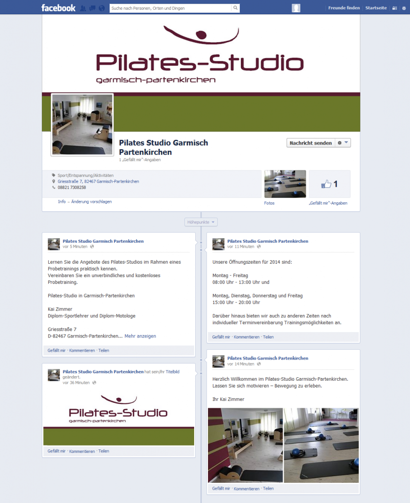 facebook Pilates-Studio Garmisch Partenkirchen